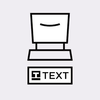 Text und Grafik Stempel